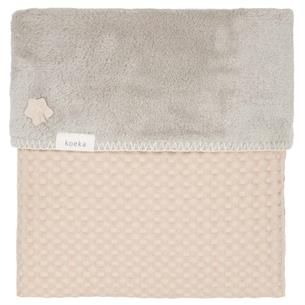 Couverture lit waffle/teddy Oslo
